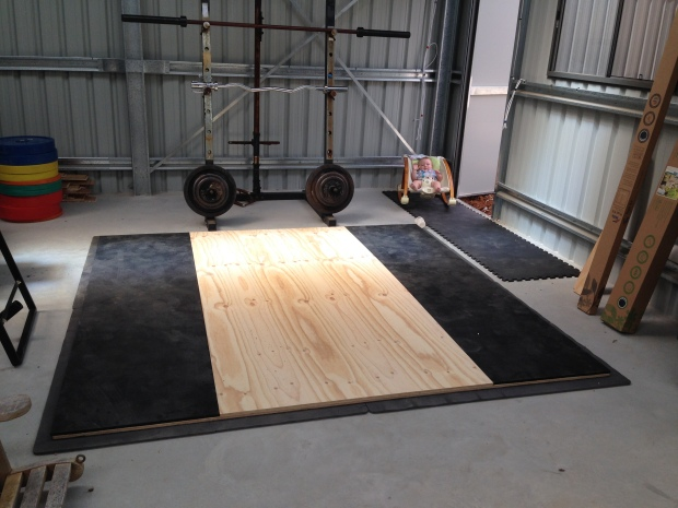 Olympic lifting platform build