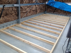 man cave flooring joists 2