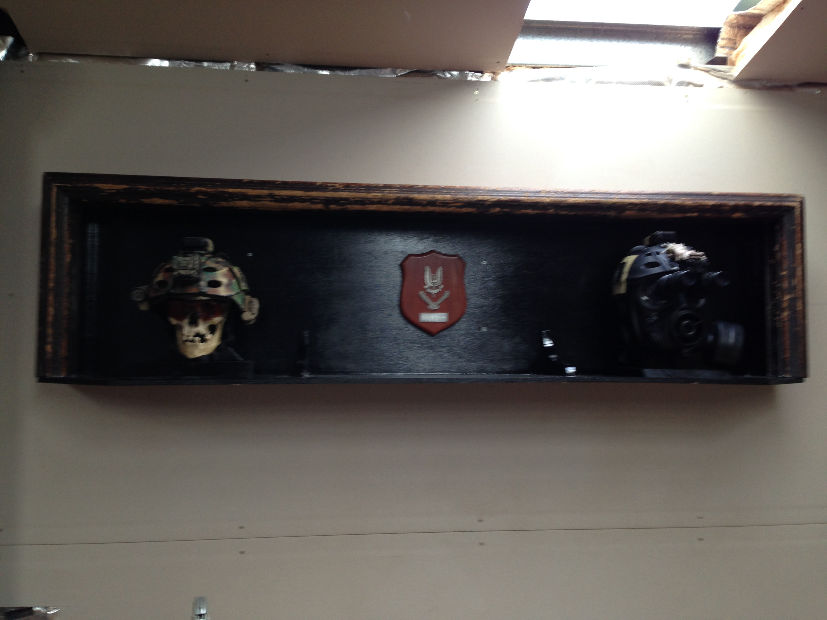 Helmet mounted display army patches
