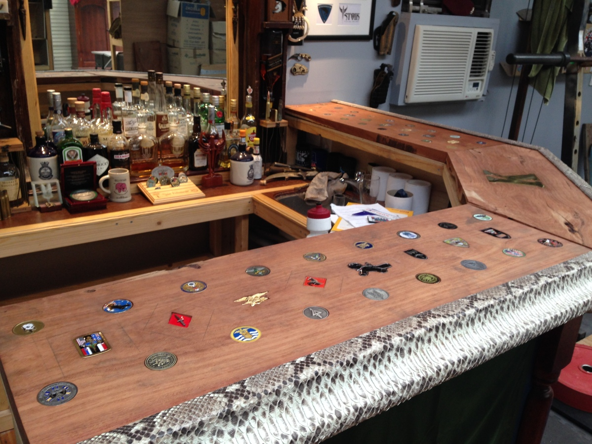 Bar Top Coin Inlay Finally Finished Ultimatemancavebuild